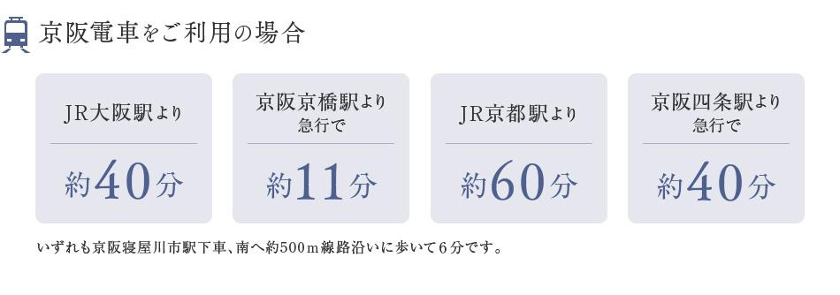 京阪電車をご利用の場合